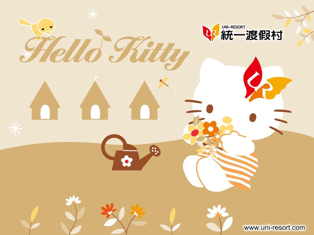 Wallpaper Hello Kitty Uni-Resort | www uni-resort com tw/kt