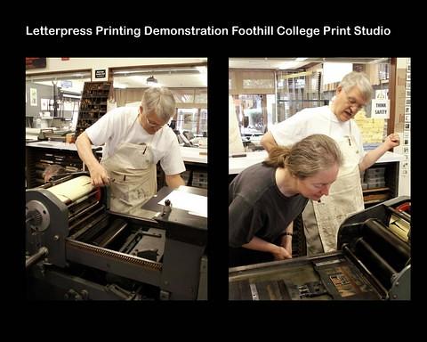 Book Arts Jam 2007 - Letterpress demo - Print Studio - slide 14