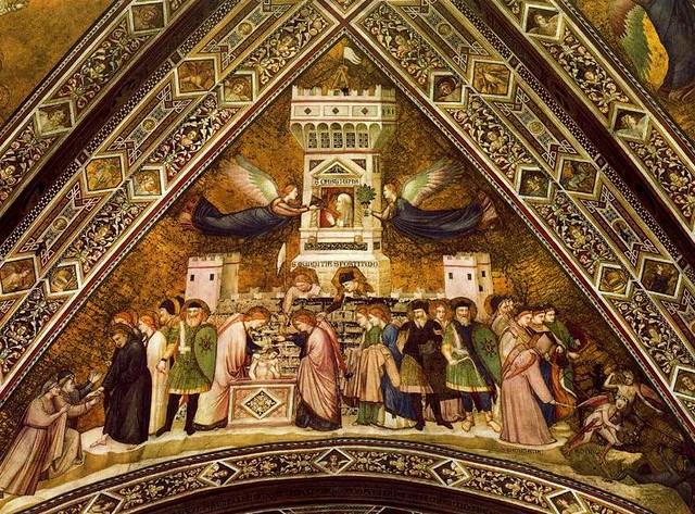 Giotto - Allegoria della Castità. Assisi, Basilica inferiore di San Francesco