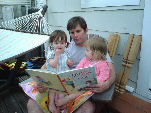 Reading with Rob and Maia