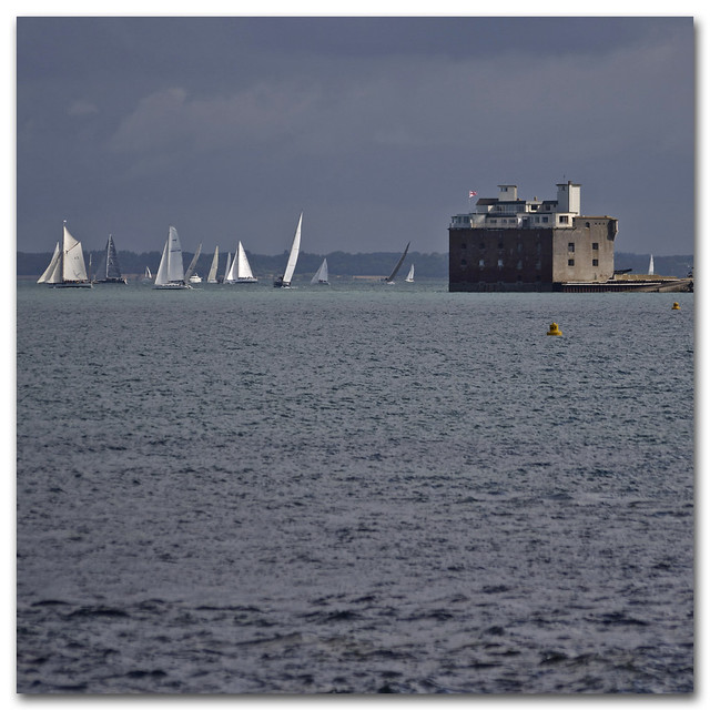 Round the Island Race 2009 - Fort Albert, Colwell Bay