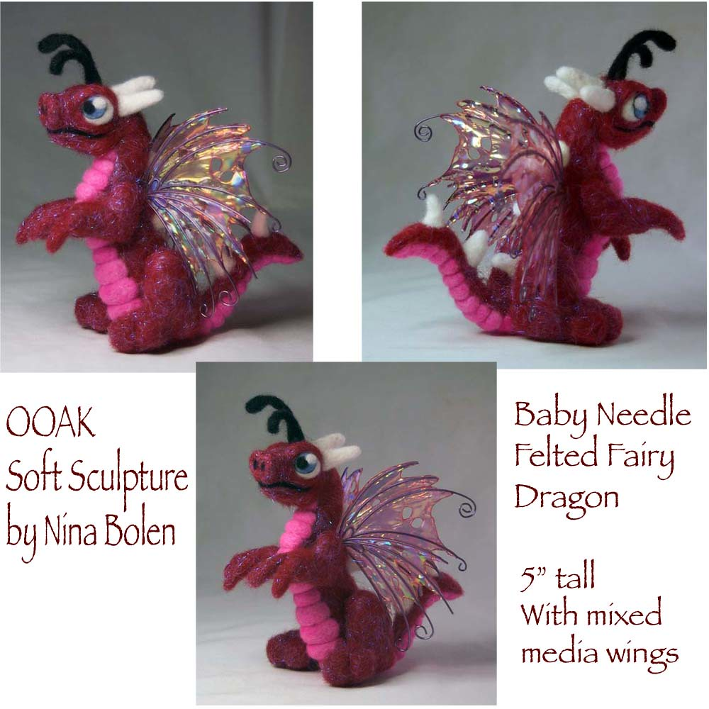 This needle felt fairy is one of a kind