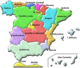 Mapa Comunidades De España.Mapa De Espana La Comunidades Autonomas Avueltasconele