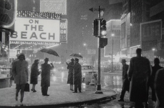 TIMES SQUARE IN SNOW 1959 Vintage