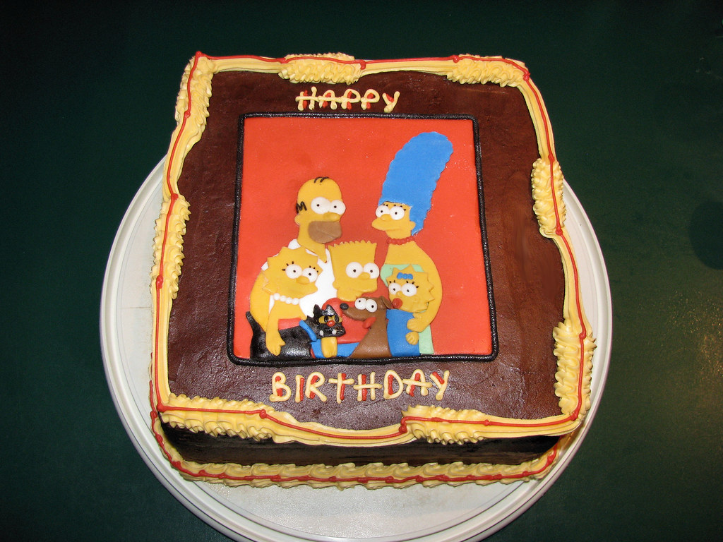 Simpsons Birthday Cake