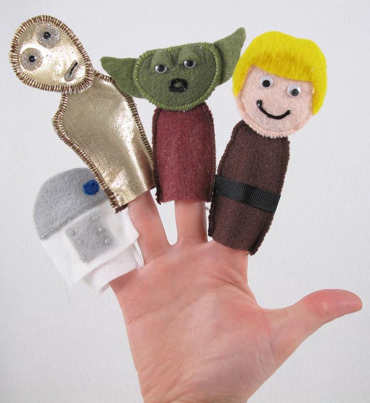 Star Wars Felt Finger Puppets   DIY Star Wars Crafts Your Kids Can Do For   star wars art project