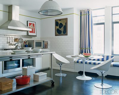 Stupendous Modern White Kitchen Saarinen Table Window Seat Phili Home Interior And Landscaping Ologienasavecom
