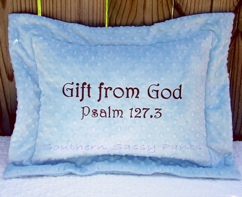 Gift from God Minky Pillow