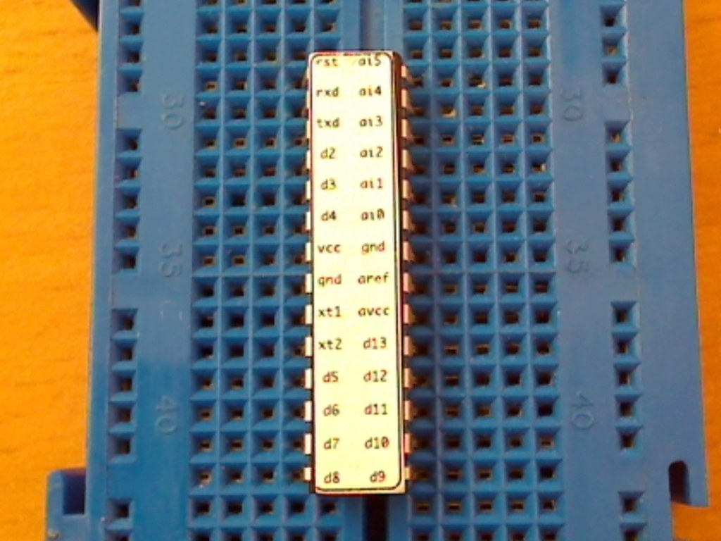 Atmega 328 with pinout sticker | My Atmega328 with Arduino b
