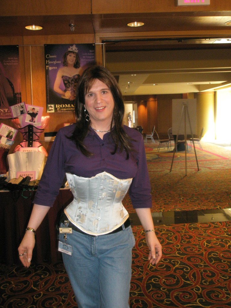 3004afe47f1 by Jenny North Trying on corsets!