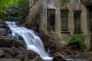 Waterfall at Willson Carbide Mill - Gatineau Park, June 2009 | by RobMan170