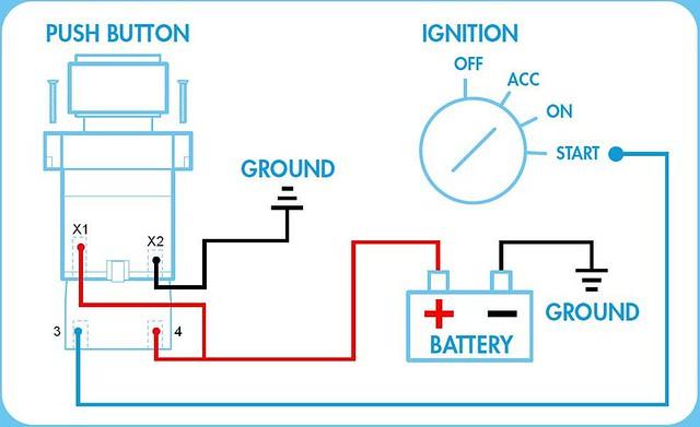 Pleasant Push Button Quick Start Ignition Switch Wiring Diagram Schematic Wiring Digital Resources Antuskbiperorg