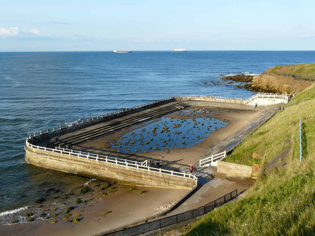 The old Lido at Tynemouth - now filled in