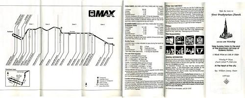 First-ever MAX Light Rail schedule