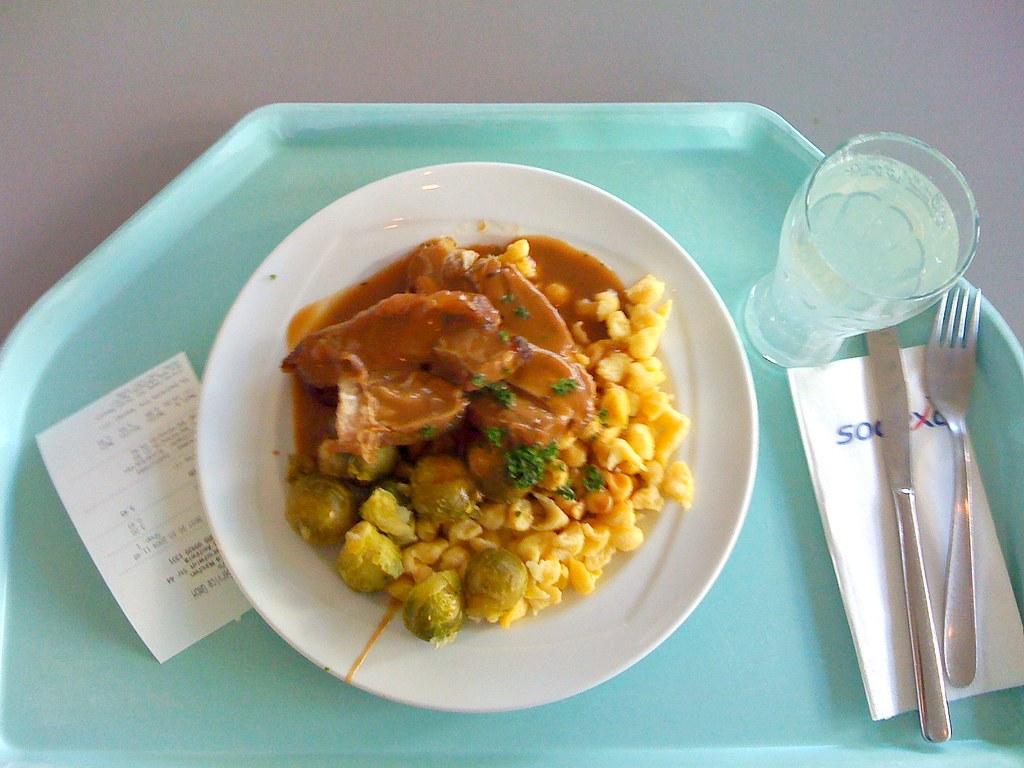 Putenoberkeule mit Rosenkohl / turkey haunch with Brussels sprouts