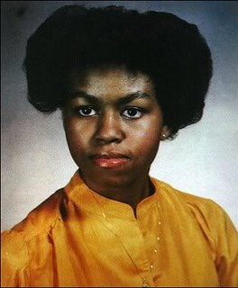 MICHELLE OBAMA AS A BLACK SKINNED BEAUTY TEENAGER!