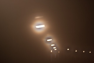 fluorescent lights along a walkway | by fishyjelly