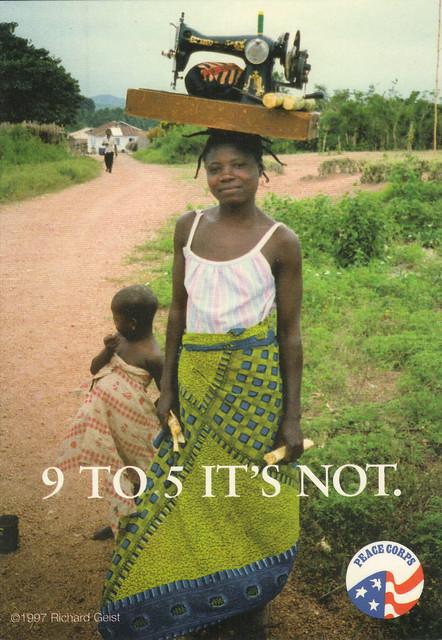 Peace Corps Ad Postcard