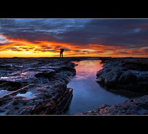 reflection beach clouds sunrise photographer jervisbay rockpool shoalhaven