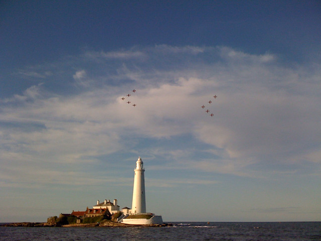 Red Arrows at St. Mary's Island, Whitley Bay
