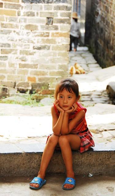 Village girls in china