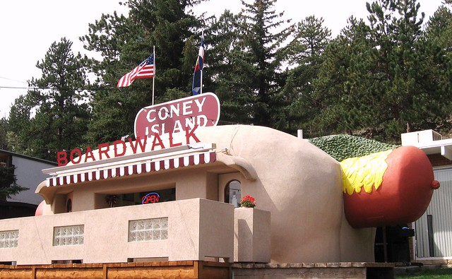 Hot Dog in Bailey Colorado