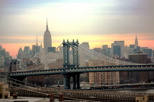 Manhattan Bridge and the Brooklyn Bridge | by Henrique Vicente