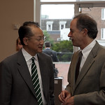 President Jim Yong Kim's first day at Dartmouth, July 1, 2009 - Staff Breakfast