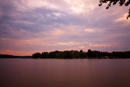 sunset lake water clouds nc northcarolina highrocklake davidsoncounty nd30 ndx1000 southmont tokinaatx116prodx