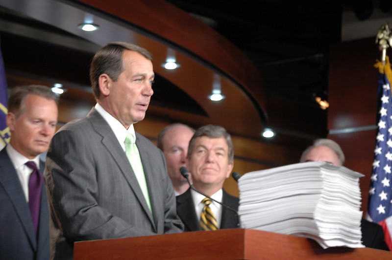 House Republican Press Conference on Health Care Reform House Republican Leader John Boehner (R-OH)