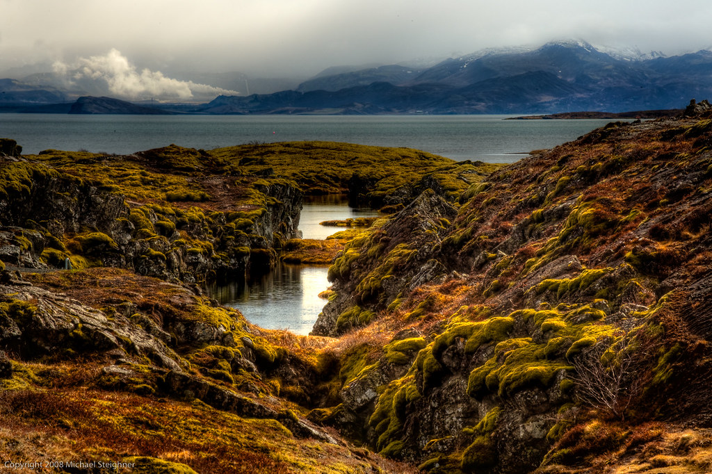Close to the continental divide in Iceland by MDSimages.com