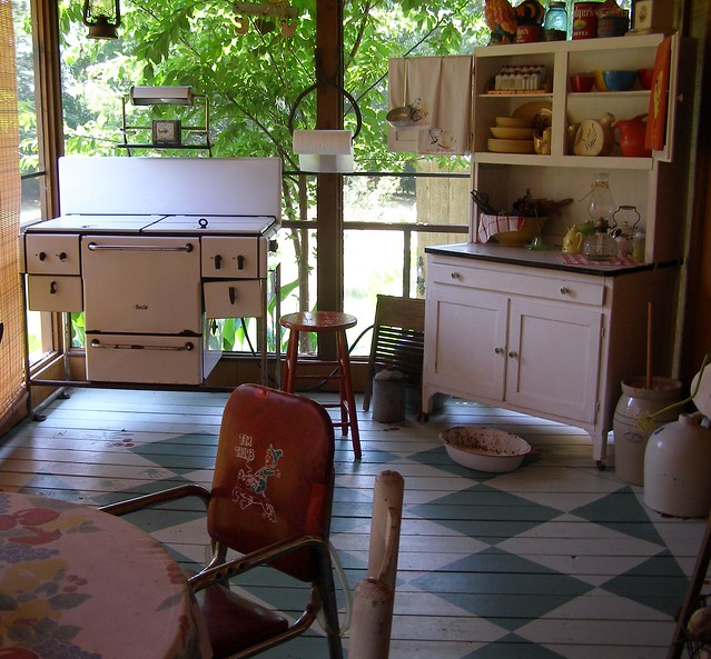 Screened-In Front Porch Kitchen...