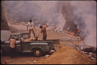 Burning Garbage at an Open Dump on Highway 112 02/1973