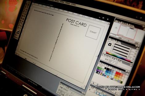 準備,製作小米明信片。
