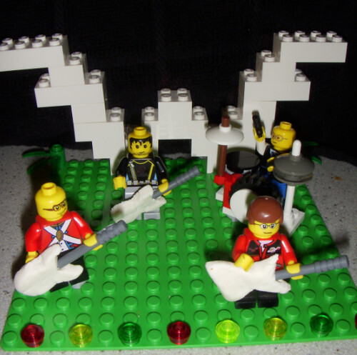 Weezer Lego Cake Topper | This was the topper for Javier's c… | Flickr