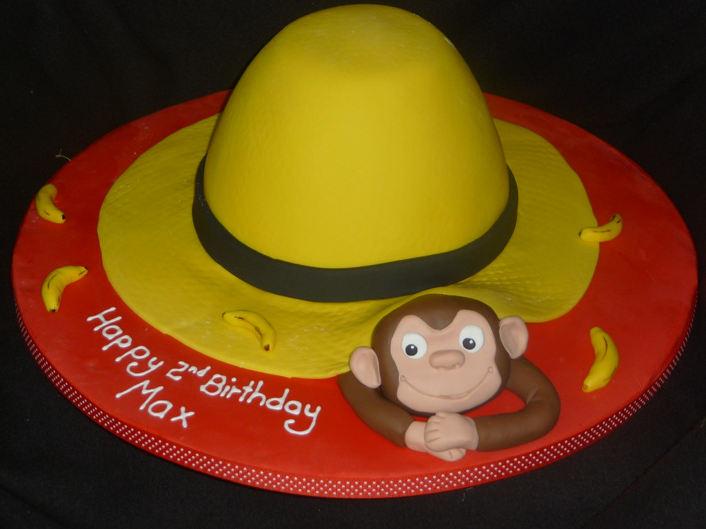 Big Yellow Hat And Curious George 005 A Cake I Made For A Flickr