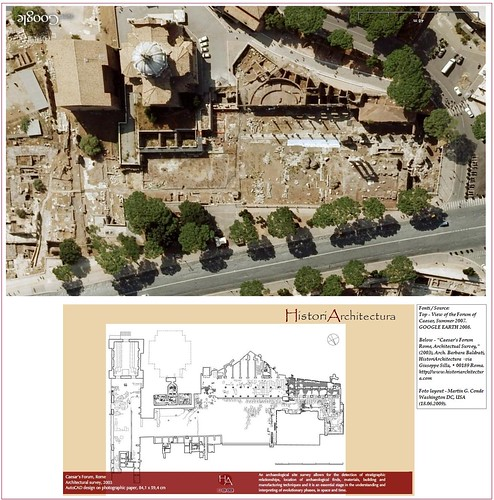 ROME - THE IMPERIAL FORA: FORUM OF CAESAR - ARCH. BARBARA BALDRATI: CAESAR'S FORUM - ARCHITECTURAL SURVEY / AutoCAD design (2003). © Tutti i diritti riservati 2009.