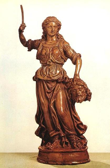 ROBBIA, Giovanni della Judith - Glazed terracotta, height- 60 cm Museum of Fine Arts, Budapest