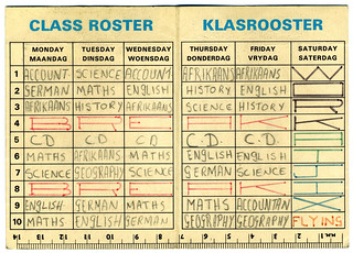 1975 CBC Std  7 Timetable - Inside | This it the inside of m… | Flickr