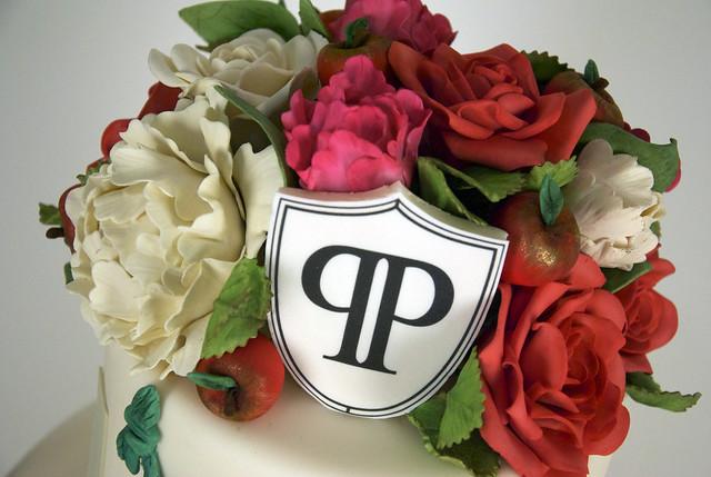 W9051-rose peony wedding cake toronto