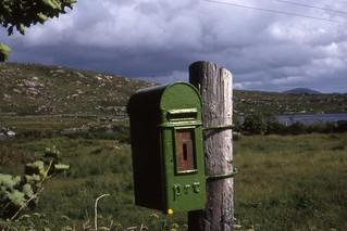 Irish Post Box, the Rosses , Co Donegal  June 1990 | by sludgegulper