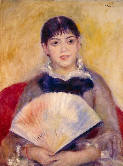 Renoir - girl with fan 1881