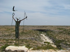 Indian Shaman statue at Seminole Canyon State Park, Texas (Picture A Day October 18, 2009)
