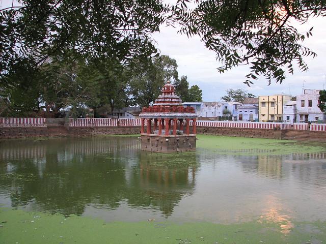A temple pond