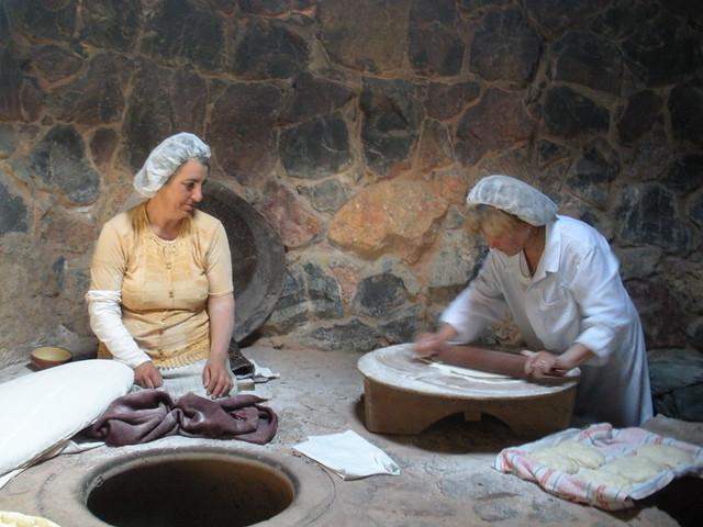 traditional lavash making