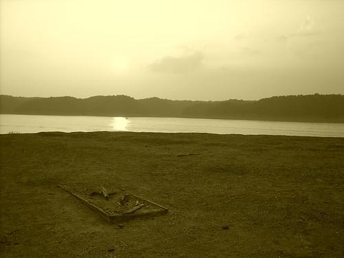 Cemetery Island Lake Cumberland at sunset