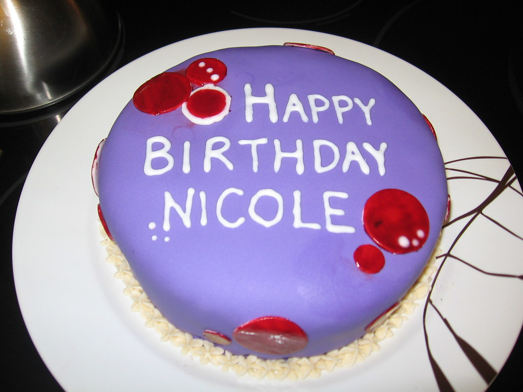 Wondrous Nicoles Birthday Cake This Was A Quick Birthday Cake That Flickr Funny Birthday Cards Online Alyptdamsfinfo