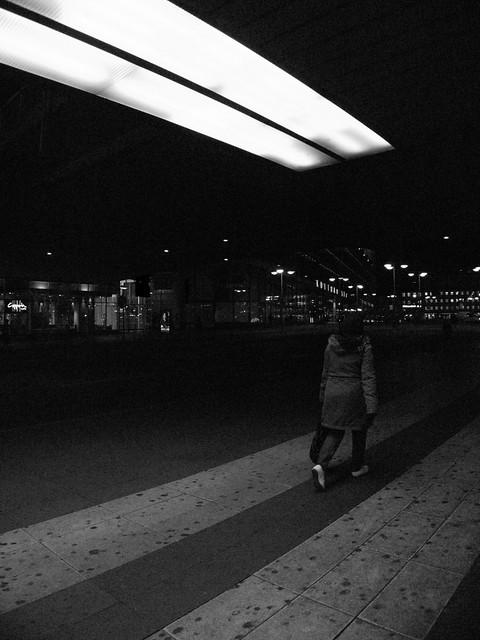 Walking on a dark stripe