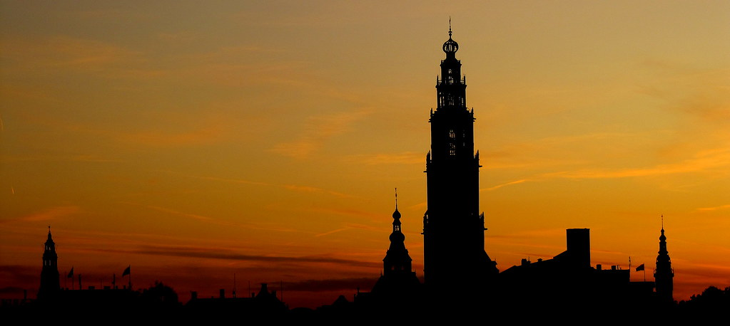 Groningen zonsondergang by Erwinke