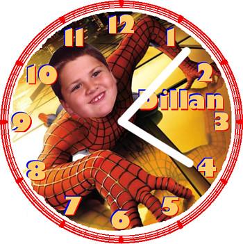 Dillan as Spiderman | by customclockface